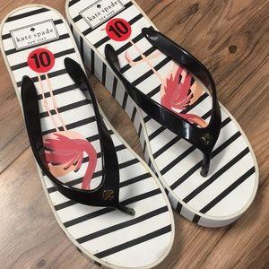 Kate Spade flip flops ❤️